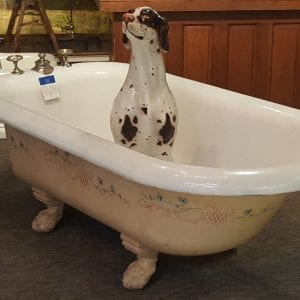 Cast Iron Bathtub on Paw Feet - antique bathtub