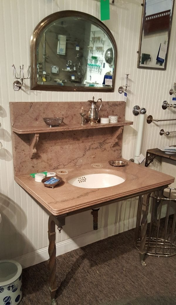 Marble Bath Sink, Nickel Frame | Looloo Design