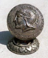 A Greek warrior knob from the 1860s.