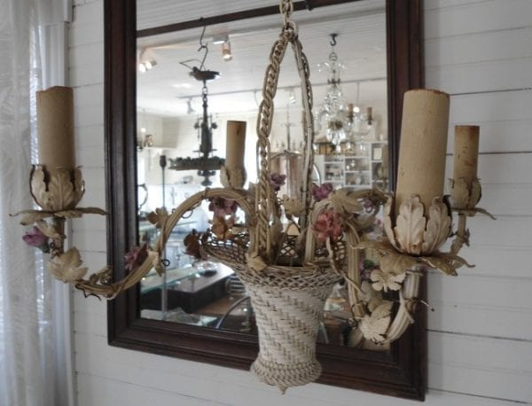 flower basket hanging fixture