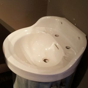 round front china sink