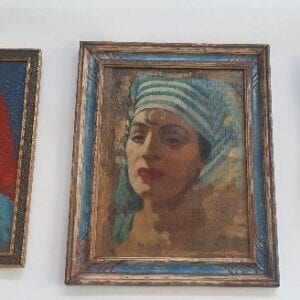 Portraits of three women.